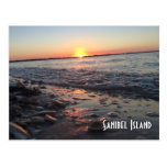 Sanibel Island sunset postcard