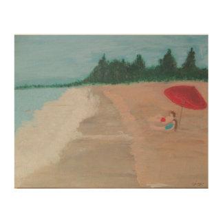 "Sanibel Island ""Vacation Couple"" Wood Prints"