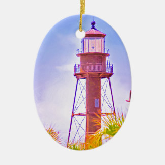 Sanibel Lighthouse collection Ceramic Ornament