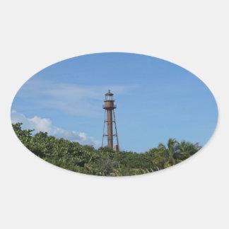 Sanibel Lighthouse Oval Sticker