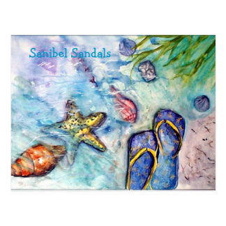 Sanibel Sandals Postcard