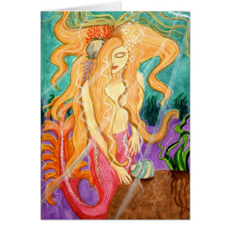 Sanibel Siren Mermaid Blank Card