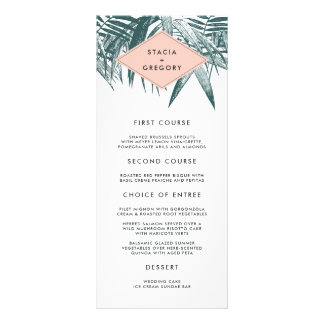 Sanibel | Tropical Botanical Wedding Menu Card Rack Card Design