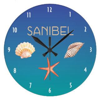 Sanibel with Seashells Wallclock