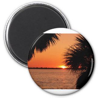Sanibels sleeping sun magnet