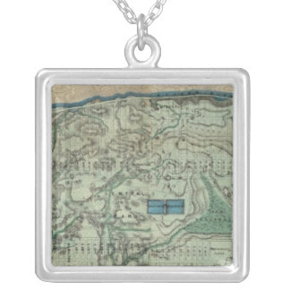 Sanitary and Topographical Map of New York City Square Pendant Necklace