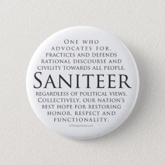 Saniteer (white) - Button