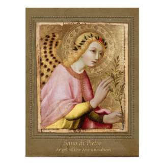 Sano di Pietro Annunciation angel CC0734 Sienese Postcard