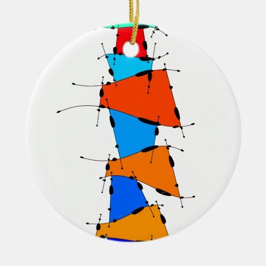Sanomessia - melting cubes ceramic ornament