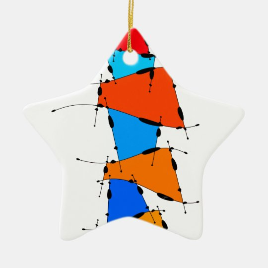 Sanomessia - melting cubes ceramic ornament