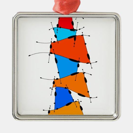 Sanomessia - melting cubes Silver-Colored square ornament