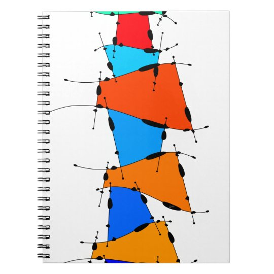 Sanomessia - melting cubes spiral notebook