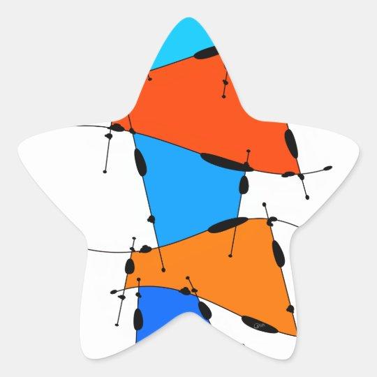 Sanomessia - melting cubes star sticker