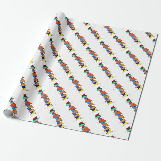 Sanomessia - melting cubes wrapping paper