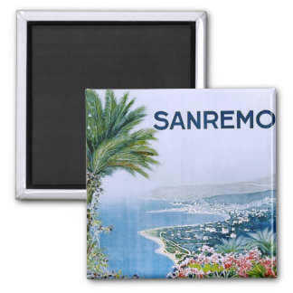Sanremo Italy Square Magnet