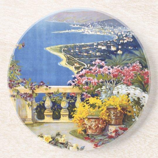 Sanremo Italy Travel Poster Coaster