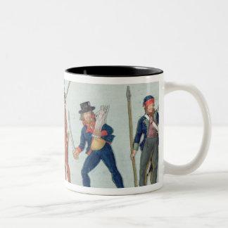 Sans Culotte Lighting his Pipe Two-Tone Coffee Mug