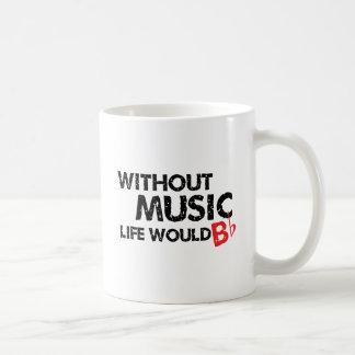 Sans vie de musique B (soyez) plat Mug