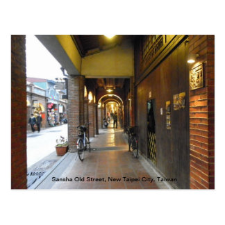 Sansha Old Street, New Taipei City, Taiwan Postcard