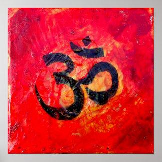 Sanskrit Om Symbol Poster