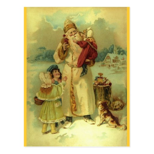 Santa 1897 vintage St. Nick Postcards