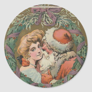 Santa 1905 Puck Cover Classic Round Sticker