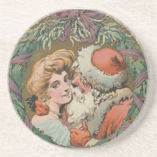 Santa 1905 Puck Cover Coaster