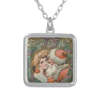 Santa 1905 Puck Cover Silver Plated Necklace