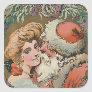 Santa 1905 Puck Cover Square Sticker