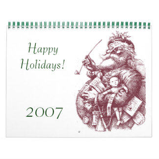 santa 1, Happy Holidays!, 2007 Wall Calendars