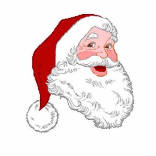 Santa Acrylic Ornament Photo Cutouts