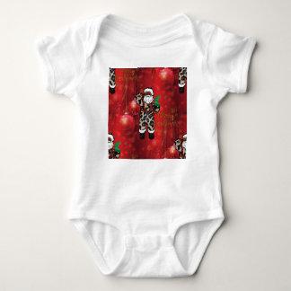 santa african leopard claus red baby bodysuit