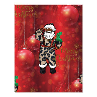 santa african leopard claus red letterhead