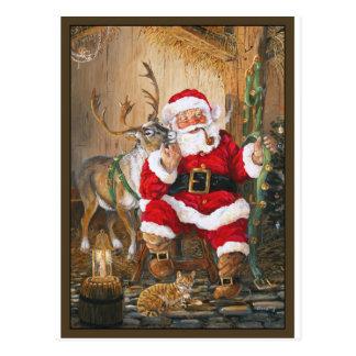 Santa After Christmas Eve Postcard