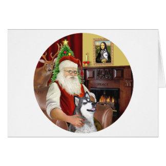 Santa-AlaskanMalamute Card