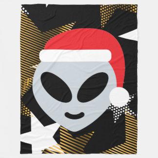 santa alien emoji blanket