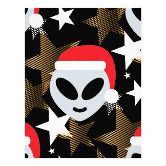santa alien emoji letterhead