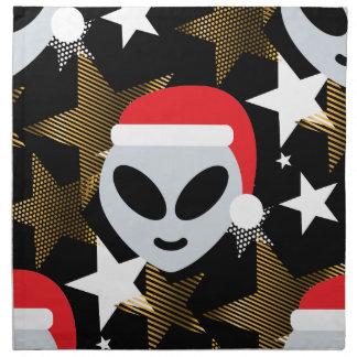 santa alien emoji napkin