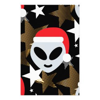 santa alien emoji stationery