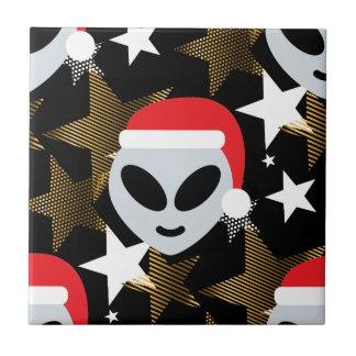 santa alien emoji tile