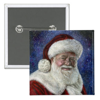 Santa amongst the Stars 2 Inch Square Button