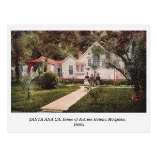 Santa Ana CA, Home of Helena Modjeska old postcard