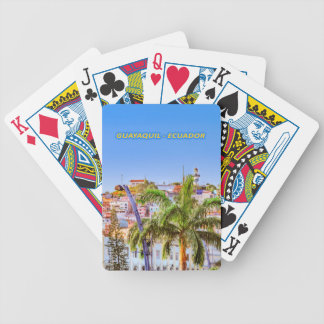 Santa Ana Hill, Guayaquil Poster Print Bicycle Playing Cards