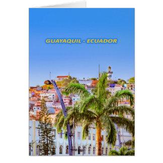 Santa Ana Hill, Guayaquil Poster Print Card