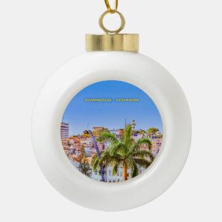 Santa Ana Hill, Guayaquil Poster Print Ceramic Ball Christmas Ornament