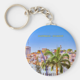 Santa Ana Hill, Guayaquil Poster Print Keychain