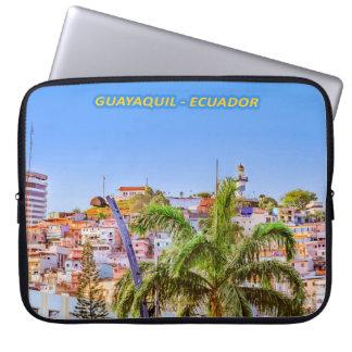 Santa Ana Hill, Guayaquil Poster Print Laptop Sleeve