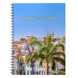 Santa Ana Hill, Guayaquil Poster Print Notebook
