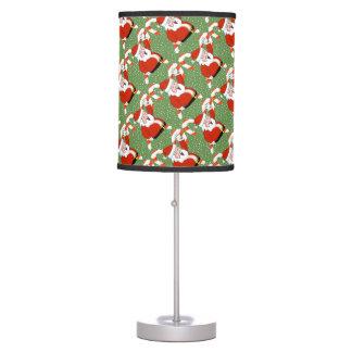 Santa and Candy Canes Lamp
