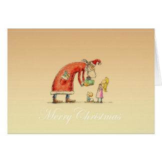 Santa And Child Greeting Card